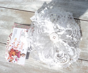 White Lace Large Hair Clip!!Just $6.00 + postage